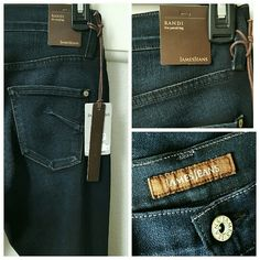 "James Jeans Randi Pencil Leg Baroque Jeans New with tags!! Absolutely gorgeous jeans!! Super soft with lots of stretch!  Super slim jean in dark denim with a high rise and subtle whiskering! 65% Cotton, 33% Tencel and 2% Elastane  Waist measurement - 14.5""  Inseam - 32""  Front rise - 9"" Back rise - 14"" James Jeans Jeans Skinny"