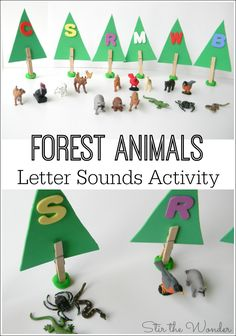 This Forest Animals Letter Sounds Activity is a fun, hands-on way for preschoolers to learn the sounds of the letters! Letter Sound Activities, Animal Activities, Alphabet Activities, Literacy Activities, Animal Themes, Preschool Alphabet, Nature Activities, Literacy Centers, Teaching The Alphabet