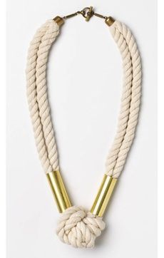 Gorgeous!!!! could make this one instead.. now not sure which i like most..   #necklace sailboat knot necklace...only I would use copper tubing.
