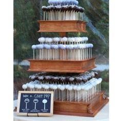 Cake pop wedding cake.