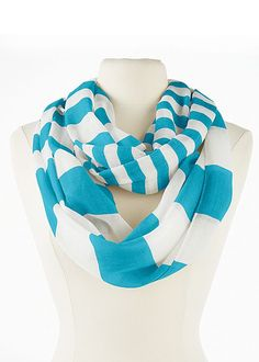 BLUE Stripe infinity scarf from VENUS