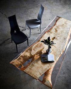 "426 Me gusta, 7 comentarios - 一枚板家具専門店 アトリエ木馬 (@atelier_mokuba) en Instagram: ""【新作:New work】 ・ ・ IDEA・レジンテーブル・Resin table ・ 「木材+アクリル」 ・ 「Wood+Acrylic」 ・ ・ #一枚板#無垢テーブル#一枚板テーブル…"""