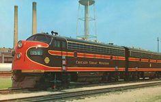 railroad engines | TRAIN - CHICAGO GREAT WESTERN - DIESEL ENGINE - FACTORY BACKGROUND ...
