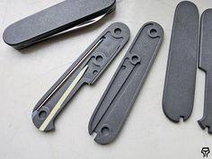 Andrzej Woronowski Custom Knives: Victorinox Swiss Army Knife scales 10
