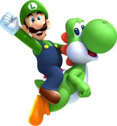 Luigi and Yoshi - super-mario-bros Fan Art Super Mario Party, Bolo Super Mario, Super Mario And Luigi, Super Mario World, Super Mario Brothers, Mario Kart, Mario Y Luigi, Cartoon Clip, Yoshi