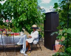 """""""Not only have I got MY own shed, but I have a shed that is as girly as me!"""" says Dewi while enjoying her Garden Shed she entered into the 2012 We Love our Aussie Shed contest Farm Shed, Cheap Sheds, Go The Extra Mile, Outdoor Furniture Sets, Outdoor Decor, Great Stories, Rattan, Building"""