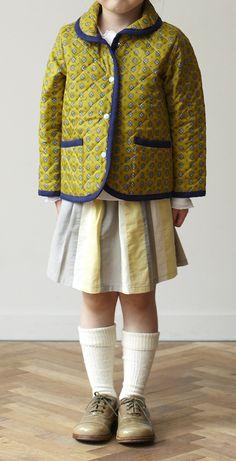 小さな子どもサイズも作りやすい、キルティングコート。/キルティング地で作るコート&バッグ(「はんど&はあと」2012年11月号)