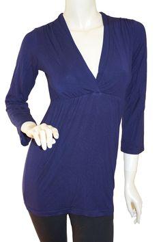 Virtue Nursing Breastfeeding Top - Black & Eggplant Maternity Wear Australia - Affordable Maternity Clothes