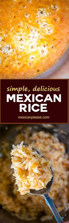 You'll be amazed how much flavor you get in this delicious Mexican Rice using such a simple ingredient list.  It's my default rice dish and couldn't be easier to make.   http://mexicanplease.com
