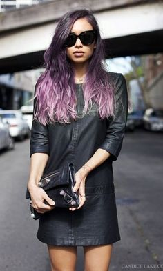 pastel ombre hair color for brunettes 2017