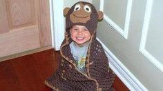 Items similar to Cheeki Monkee Blanket on Etsy Crochet Granny, Hand Crochet, Crochet Hats, Granny Square Blanket, Baby Gifts, Monkey, Beanie, Hoodies, Children