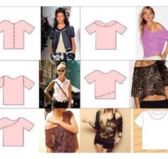 DIY: how to make an unwanted tshirt into a new style!