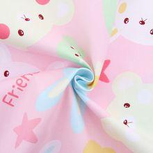 2015 nova rosa série de desenhos animados algodão metro de tecido bordado têxtil costura de retalhos de tecido para sacos chapéu roupas de bebê boneca(Hong Kong)