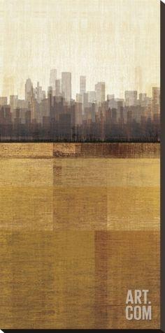 Metropolitan Jewel-Box, Topaz Stretched Canvas Print by Amori at Art.com