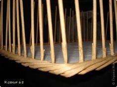 Bandeja con fondo de madera contrachapada. Clase magistral. - Tubos de periódicos Weaving - Artesanía Papel - Editorial - Rukodel.TV