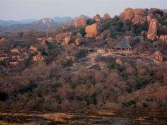 """Big Cave Camp, Zimbabwe -- Luxury Lodge -- Scenery of """"The Lodge of the Rocks"""" Zimbabwe, Paradise On Earth, Countries To Visit, Travel Companies, List, Natural Wonders, World Heritage Sites, Places To See, Trip Advisor"""