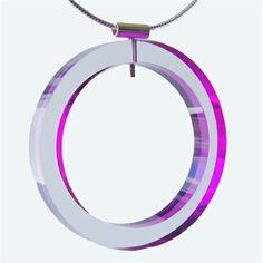 'Edge' circle pendant by Sarah Packington