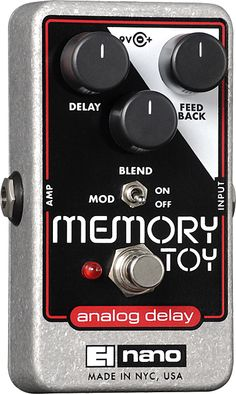 The Memory Toy presents a pure analog delay for musicians who covet thick sound from a thin wallet. EH melds heritage with select components to present the musician with up to 550ms of delay. Not a to