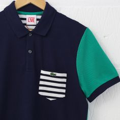 Lacoste Live Ribbed Collar Polo Shirt (Marine) #lacoste #lacostelive #newentry #polo
