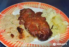 Sertéskaraj a sütőzsákból My Recipes, Bacon, Pork, Beef, Cooking, Hungarian Recipes, Kale Stir Fry, Meat, Kitchen