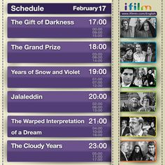 Here is today's ifilm schedule. Hope you enjoy it.   www.ifilmtv.com/english/