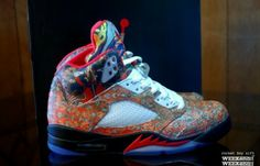 a888a4ac2f1628 Rbn Custom Air Jordan 5 (What The Fresh Prince) - Sneaker Freaker