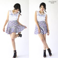 me encanta este  look <3 Like si a ti también te gusta ;) #beauty #outfit #StreetStyle #itgirl #fresco #trendy #summer #shop #love #flores #TFLers #tweegram info por inbox