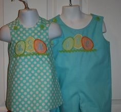Matching Brother Sister Easter Outfits by PalmettoPrincessShop, $68.00