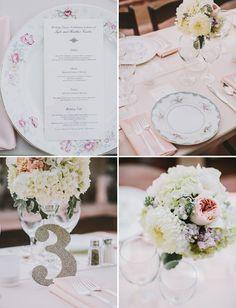 Gold glitter table #s Vintage Glam Backyard Wedding: Heather + Kyle