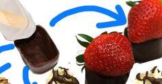 Cómo hacer un bol de chocolate con un cubito de hielo