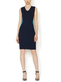 Ponte Colorblocked Sheath Dress by Ava & Aiden at Gilt