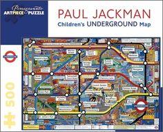 Mind the gap! 300-piece jigsaw puzzle of London's Underground