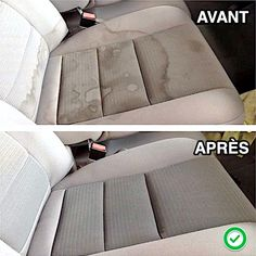 Car Upholstery Cleaner Diy, Car Seat Upholstery, Furniture Upholstery, Funky Furniture, Upholstery Cleaning, Diy Car Seat Cleaner, Diy Car Interior Upholstery, Upholstery Trim, Car Interior Cleaning