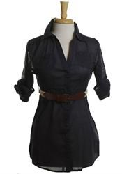 Florence Adams belted tunic