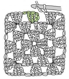 classic crochet granny square