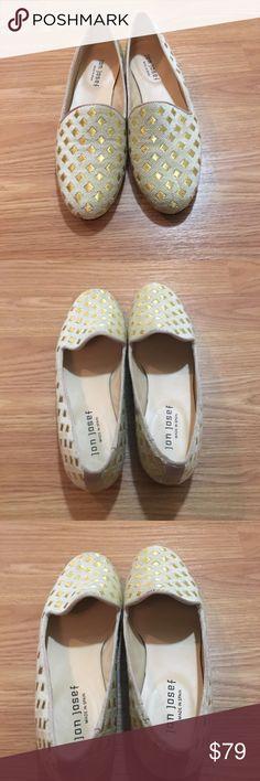 Jon Josef Gatsby cream and gold loafers Jon Josef size 7.5 narrow Gatsby loafers, nwot, no box, never worn out, cream and gold checkered print jon josef Shoes Flats & Loafers