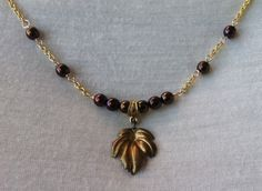 Handmade Jewelry - Seasons Leaf - $14.00 USD - Only ships to United States from North Liberty, Iowa.