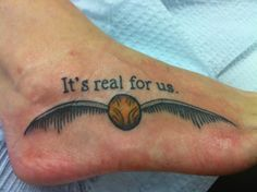 Harry Potter Tattoo. omg this is epic for HP fans!