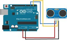 Ultrasonic Distance Sensor Connections with Arduino Diy Robot, Smart Robot, Robotics Projects, Arduino Projects, Pic Microcontroller, Tech Blogs, Arduino Board, Speed Of Sound, Development Board