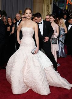 Jennifer Lawrence in Dior Haute Couture- my favorite red carpet look of all time hands down.