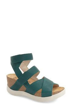 Fly London Leather Wedge (Women) available at #Nordstrom