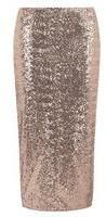 Dorothy Perkins Womens Tall rose gold sequin skirt- Rose Gold on shopstyle.co.uk