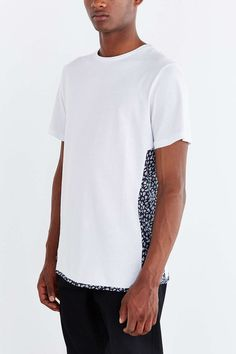 Native Youth Blocked Ditsy Print Tee - Urban Outfitters