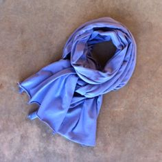 In store now: Alabama Chanin's organic cotton scarf. Shown here in Blueberry. $55. Call  +1.256.760.1090 for more color options, tips on how to style scarves, and to place an order.