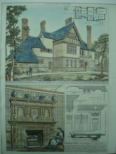 House for Geo. Short, Esq., Oatlands, England, UK, 1880, W. H. Powell