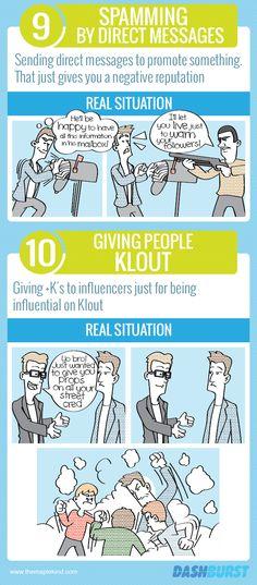 Infografía: 10 errores en #Twitter que se cometen en la vida real
