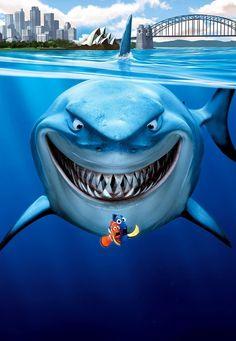 Bruce wasn't at his meeting yesterday. Nemo Wallpaper, Cute Disney Wallpaper, Cartoon Wallpaper, Disney Pixar, Disney Art, Walt Disney, Images Disney, Disney Pictures, Pixar Movies