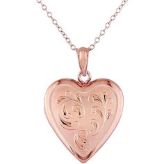 Pink Rhodium-Plated Sterling Silver Filigree Heart Locket Necklace ($150) ❤ liked on Polyvore featuring jewelry, necklaces, pink, heart locket necklace, cross necklace, locket necklace, locket and sterling silver locket