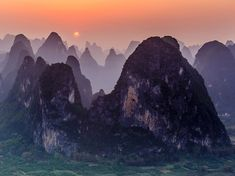 Mountain Sunset Picture -- China Photo -- National Geographic Photo of the Day