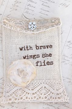 with brave wings jewelry bag measures 5 by 7 Be You Bravely, Aa Quotes, Romantic Outfit, Romantic Clothing, Fortune Favors The Bold, Sew Mama Sew, Brave Girl, The Ugly Truth, Love You Baby
